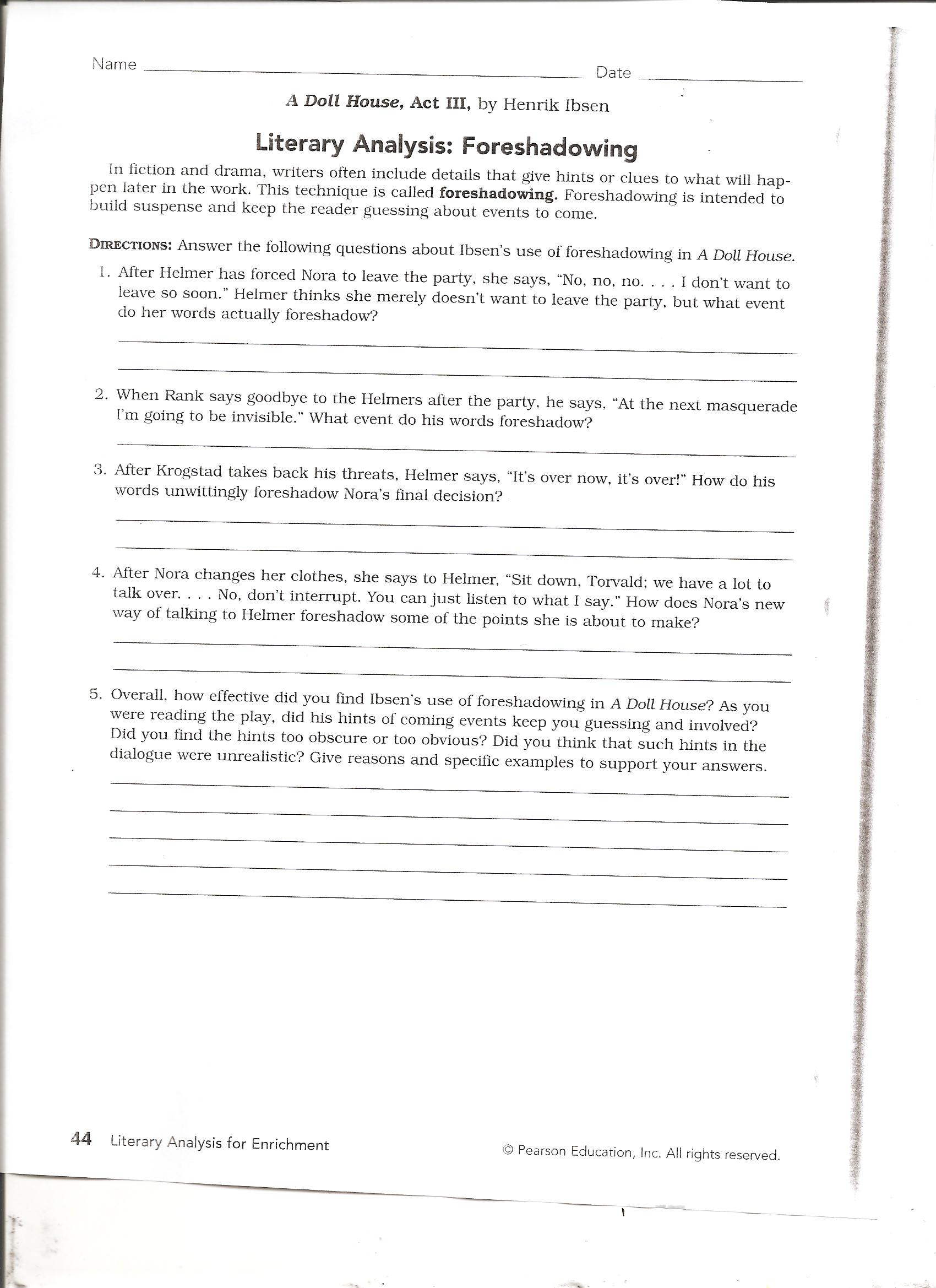 Free Worksheet Foreshadowing Worksheets foreshadowing practice related keywords suggestions worksheets pdf share the knownledge