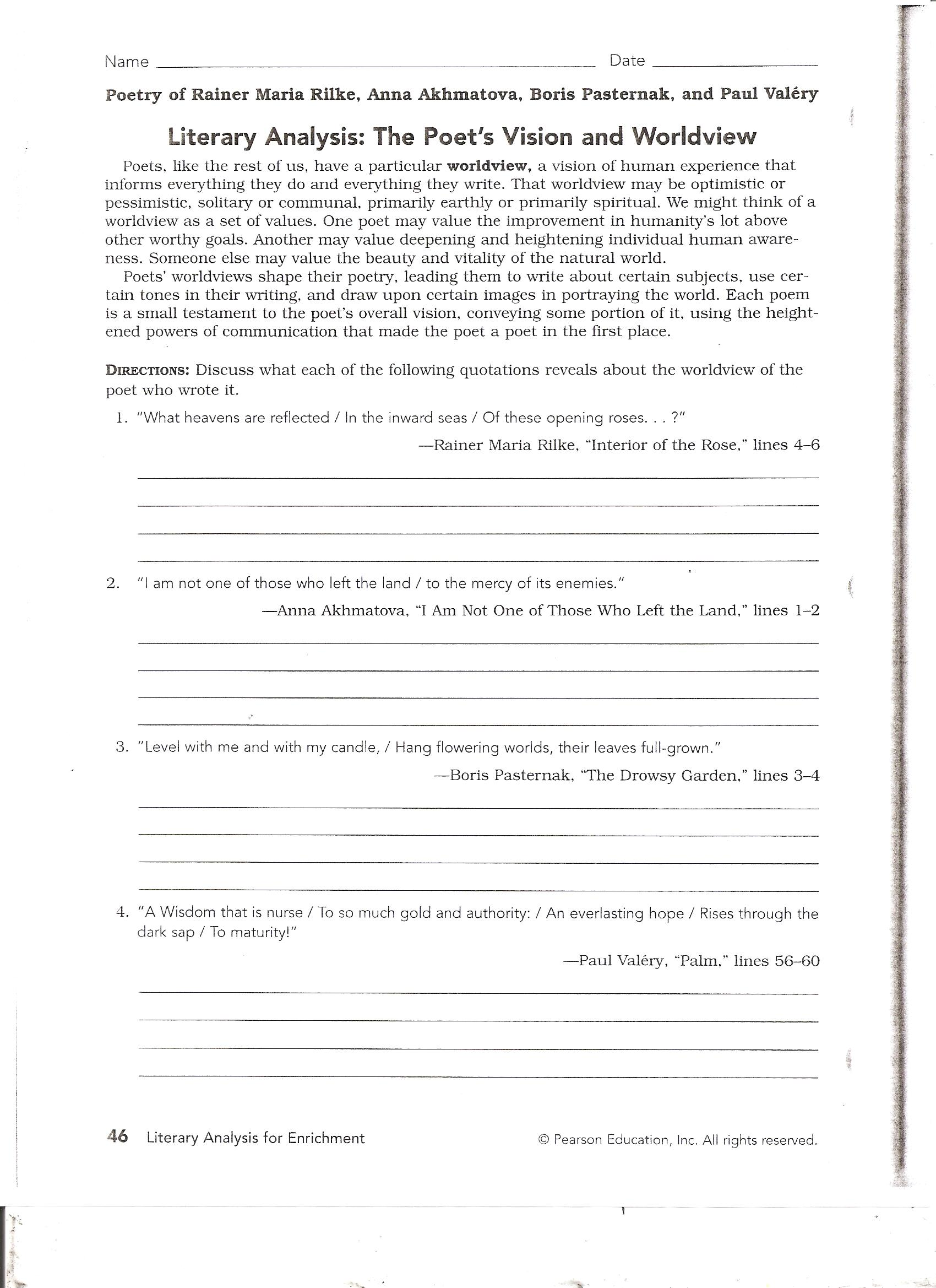 Worksheets Analyzing A Poem Worksheet analyzing a poem worksheet bloggakuten
